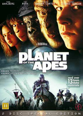 Planet of the Apes (Tim     Burton) (2-disc) (DVD) - Klik her for at se billedet i stor størrelse.