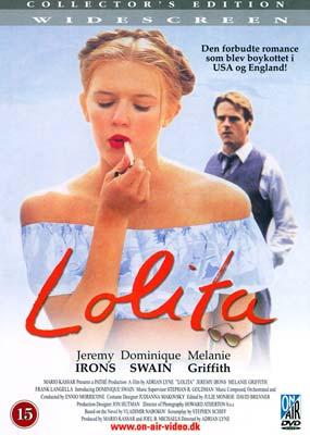 Lolita (Jeremy Irons)  (DVD) - Klik her for at se billedet i stor størrelse.
