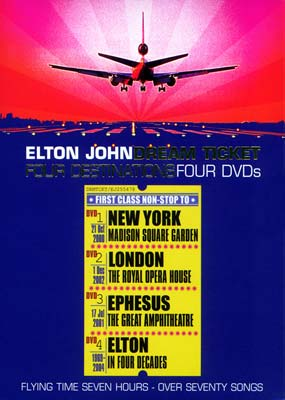 Elton John:  The Dream Ticket (4-disc) (DVD) - Klik her for at se billedet i stor st�rrelse.