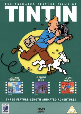 Animated Feature Films of Tintin, The (3 film) (DVD) - Klik her for at se billedet i stor st�rrelse.