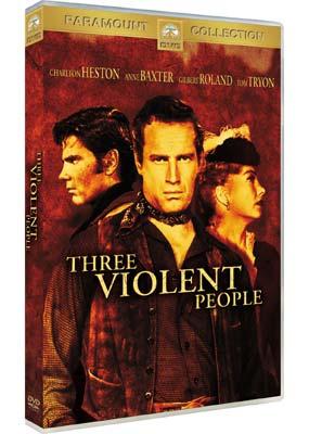 Three Violent People  (DVD) - Klik her for at se billedet i stor størrelse.