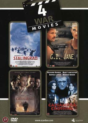 Mega Movie Mix: 4 War Movies (4-pack) (DVD) - Klik her for at se billedet i stor st�rrelse.