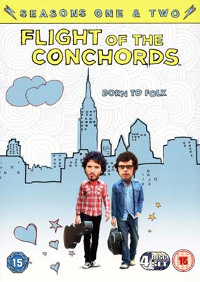 Flight of the Conchords: Seasons  1 & 2 (4-disc) (DVD) - Klik her for at se billedet i stor størrelse.