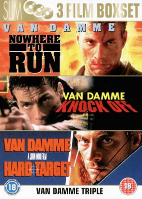 Hard Target / Nowhere to Run / Knock Off  (DVD) - Klik her for at se billedet i stor st�rrelse.