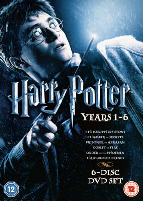 Harry Potter: Years  1-6 (6-disc) (DVD) - Klik her for at se billedet i stor st�rrelse.