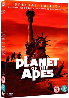 Planet of the Apes Collection (5 film) (6-disc) (DVD) - Klik her for at se billedet i stor størrelse.