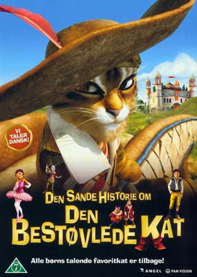 Den sande historie om Den Bestøvlede Kat  (DVD) - Klik her for at se billedet i stor størrelse.