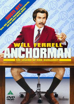 Anchorman: The Legend of Ron Burgundy  (DVD) - Klik her for at se billedet i stor størrelse.