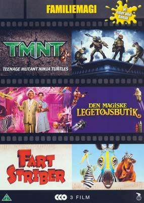 Børneboks 4 Tmnt Den Magiske Legetøjsbutik Fartstriber Dvd