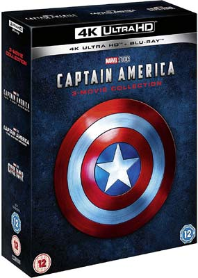Captain America: 3-Movie Collection (4K UHD) (UHD) - Klik her for at se billedet i stor størrelse.