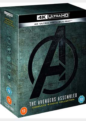 Avengers Assembled: Complete 4-Movie Collection (4K UHD) (UHD) - Klik her for at se billedet i stor størrelse.