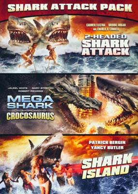 2-Headed Shark Attack / Mega Shark vs. Crocosaurus / Shark Island (3 film) (DVD) - Klik her for at se billedet i stor størrelse.