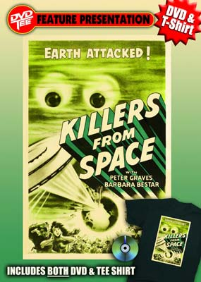 Killers From Space DVDTee (XL) movie