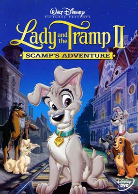 Lady and the Tramp II: Scamp's Adventure  (DVD) - Klik her for at se billedet i stor størrelse.