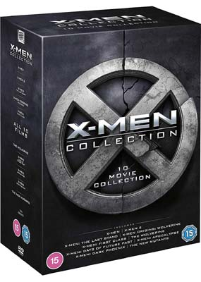 X-Men: Collection (10 film)  (DVD) - Klik her for at se billedet i stor størrelse.