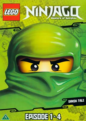 LEGO: Ninjago - Masters of   Spinjitzu, eps.  1-4  (DVD) - Klik her for at se billedet i stor størrelse.