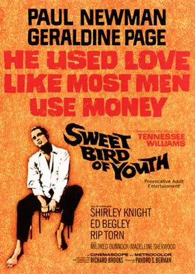 Sweet Bird of Youth (Paul Newman)  (DVD) - Klik her for at se billedet i stor st�rrelse.