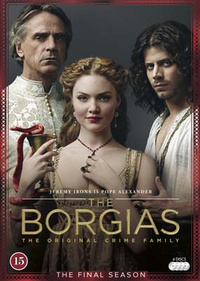 Borgias, The:  Season     3 - The Final Season (4-disc) (DVD) - Klik her for at se billedet i stor størrelse.