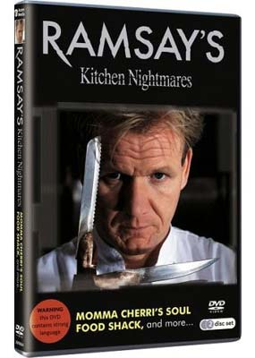 Ramsay's Kitchen  Nightmares: Momma Cherri's Soul Food Shack (2-disc) (DVD) - Klik her for at se billedet i stor st�rrelse.