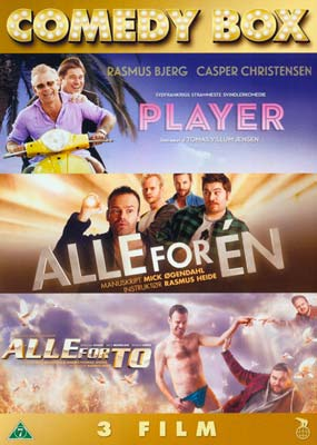 Comedy Box: Player / Alle for Én / Alle for To  (DVD) - Klik her for at se billedet i stor størrelse.