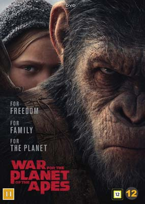 War for the Planet of the Apes  (DVD) - Klik her for at se billedet i stor størrelse.