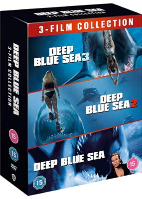 Deep Blue Sea: 3-Film Collection  (DVD) - Klik her for at se billedet i stor størrelse.