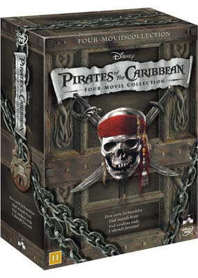 Pirates of the Caribbean 4-Movie     Collection  (DVD) - Klik her for at se billedet i stor st�rrelse.
