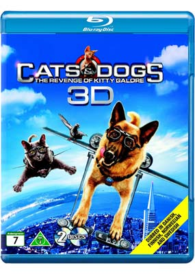 Cats & Dogs  2: The Revenge of Kitty  Galore (Blu-ray 3D) (BD) - Klik her for at se billedet i stor størrelse.